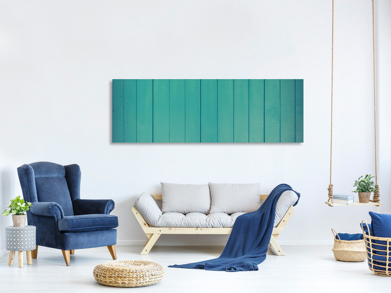 Panoramic Canvas Print Lacquered wood panels