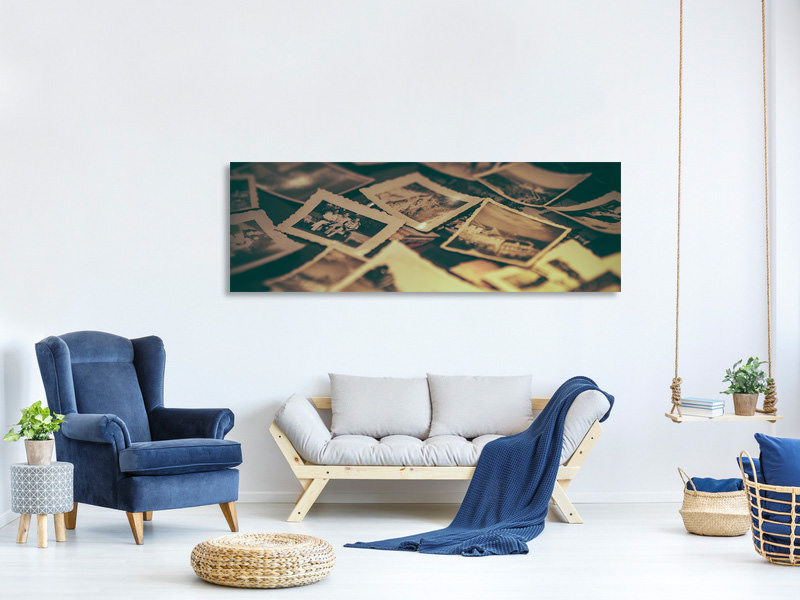Panoramic Canvas Print Retro photos