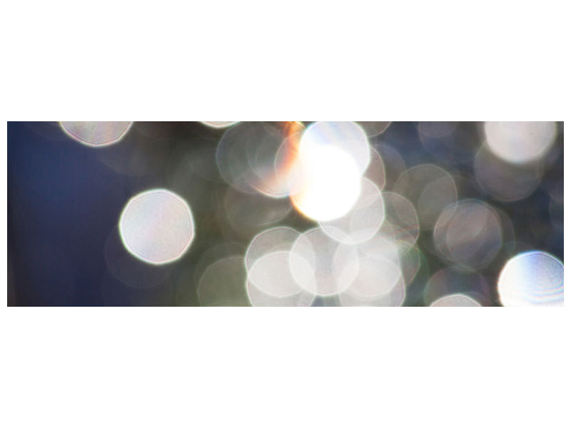Panoramic Canvas Print Abstract light dots