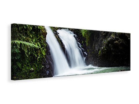 Panoramic Canvas Print Waterfall in the evening light