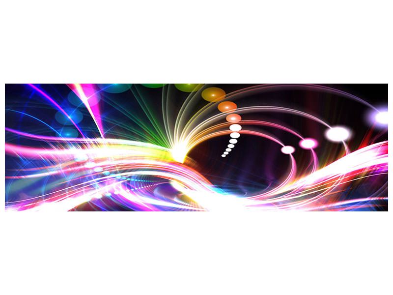 Panoramic Canvas Print Abstract Light Reflections