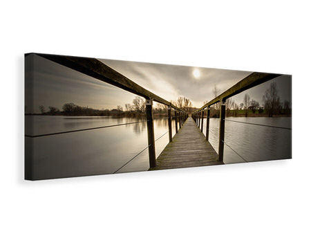 Panoramic Canvas Print The Wooden Bridge