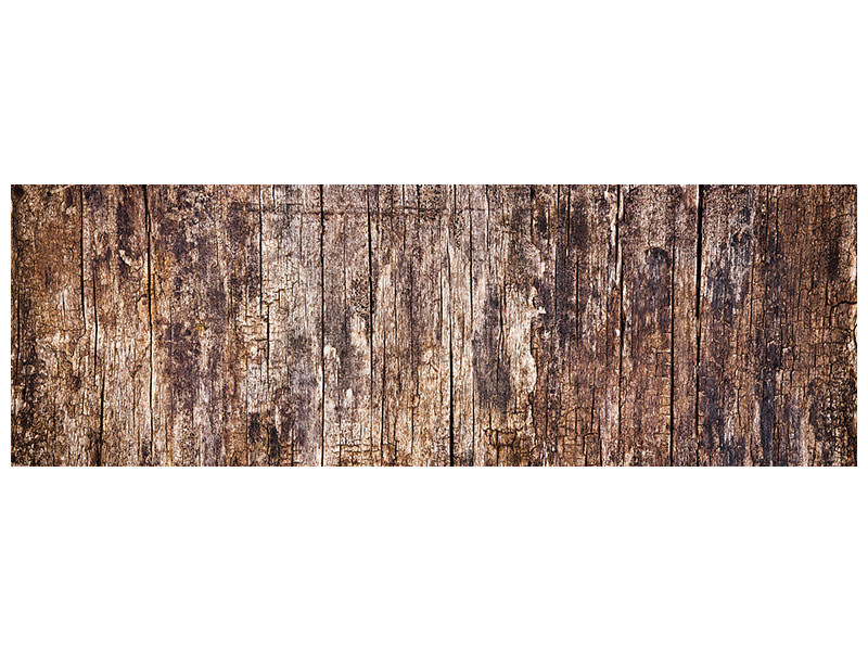 Panoramic Canvas Print Retro Wood