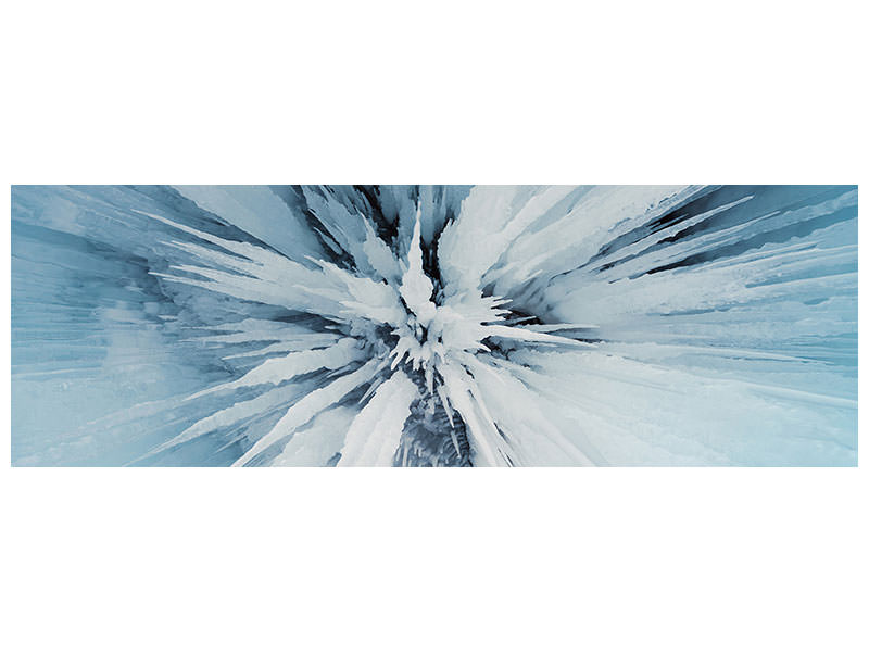 Panoramic Canvas Print Ice Art