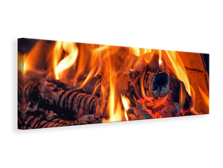 Panoramic Canvas Print Campfire