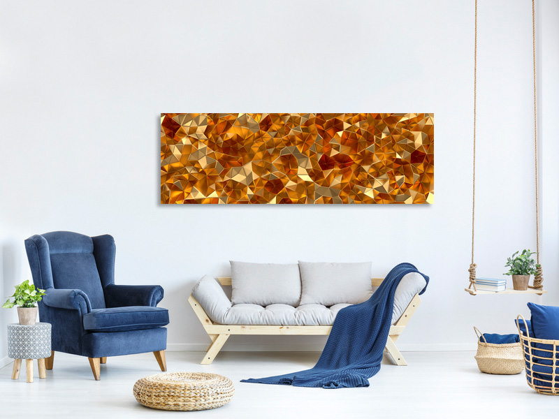 Panoramic Canvas Print 3D-Ambers