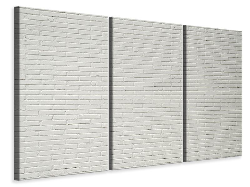 3 Piece Canvas Print Clinker bricks