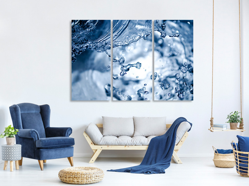 3 Piece Canvas Print Moving water