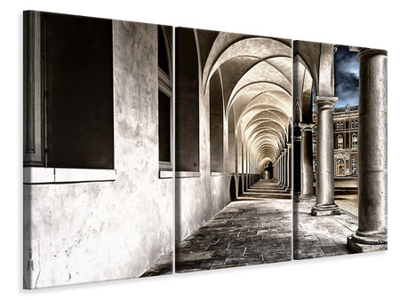3 Piece Canvas Print Baroque passage