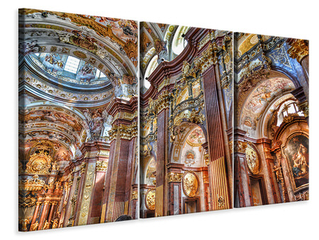 3 Piece Canvas Print Baroque church