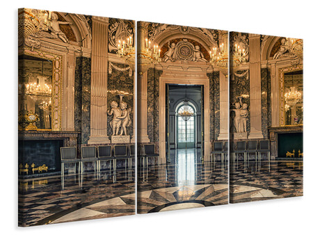 3 Piece Canvas Print Baroque hall