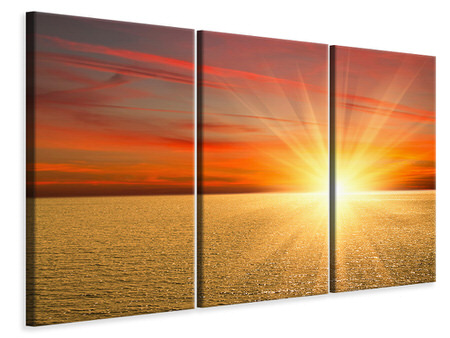 3 Piece Canvas Print The Sunset