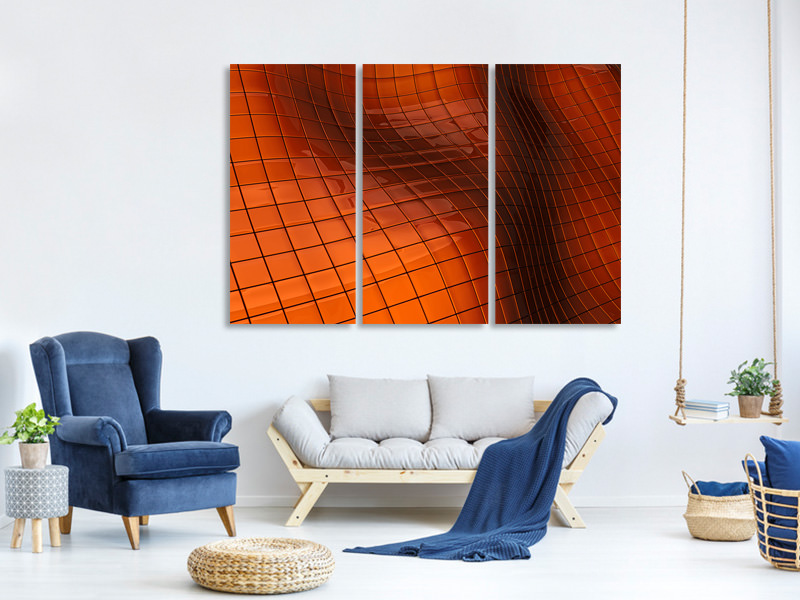 3 Piece Canvas Print 3D Tiles