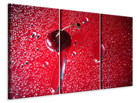 3 Piece Canvas Print Photo Waallpaper The Cherry