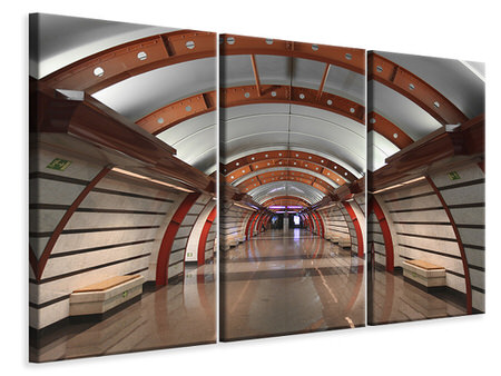 3 Piece Canvas Print Metro Station