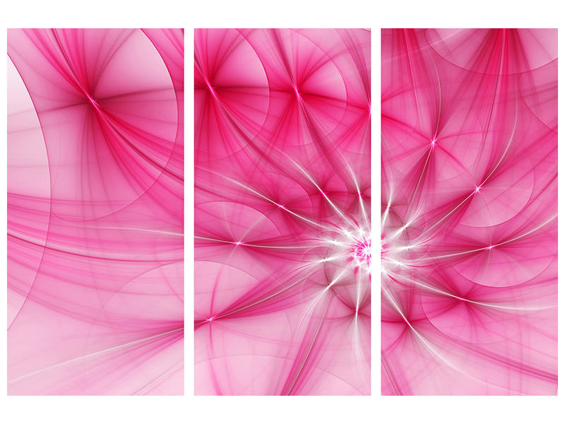 3 Piece Canvas Print Photowallpaper Abstract Daylight