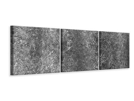 Panoramic 3 Piece Canvas Print Concrete abstract