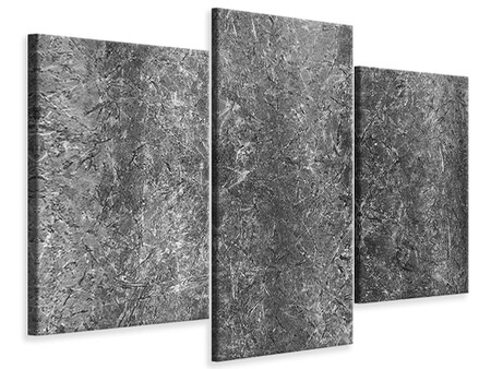 Modern 3 Piece Canvas Print Concrete abstract