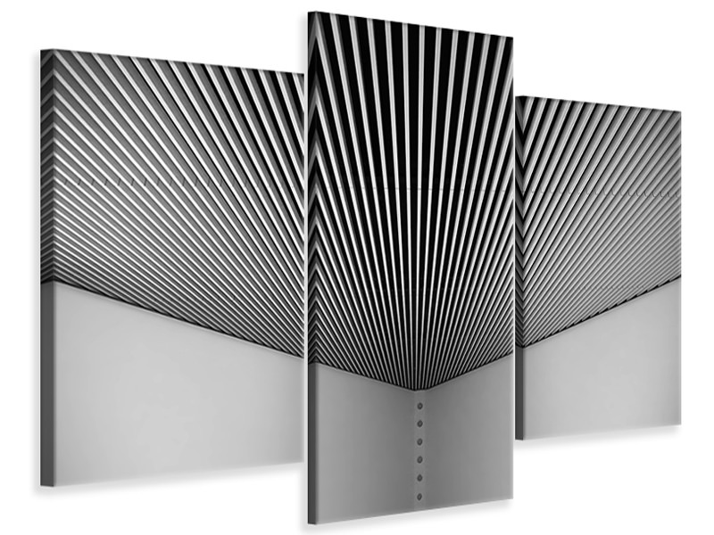 Modern 3 Piece Canvas Print Abstract Lines