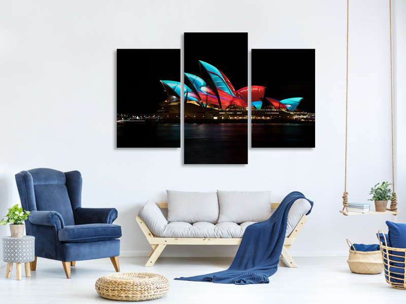 Modern 3 Piece Canvas Print Vivid