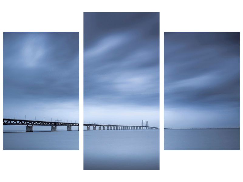 Modern 3 Piece Canvas Print The Bridge