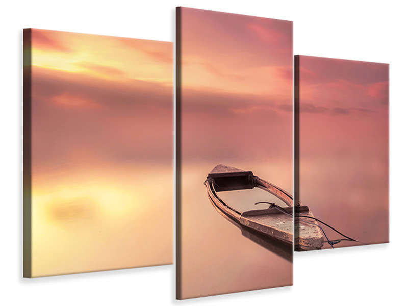 Modern 3 Piece Canvas Print The Boat