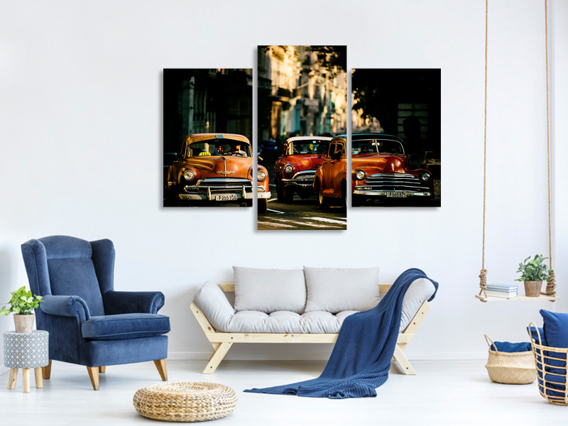 Modern 3 Piece Canvas Print Come With Me In The Morning Light