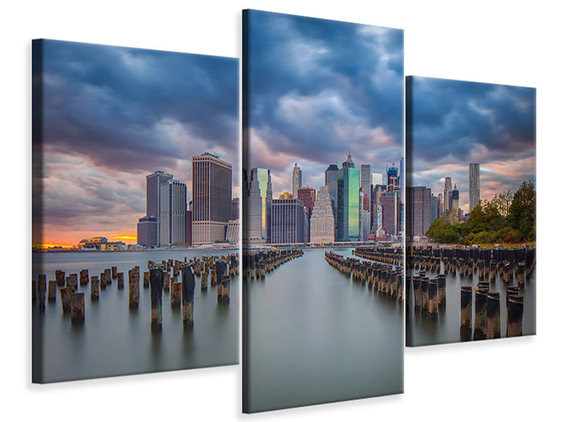 Modern 3 Piece Canvas Print Manhattan