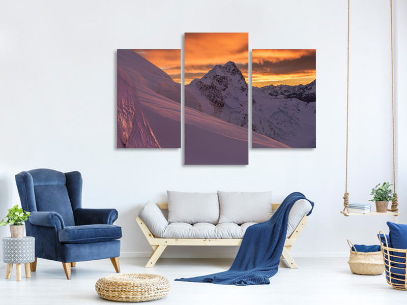 Modern 3 Piece Canvas Print Mount Broderick