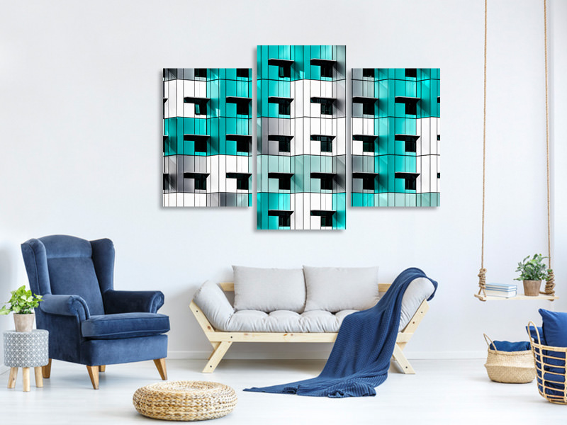 Modern 3 Piece Canvas Print Forty Windows