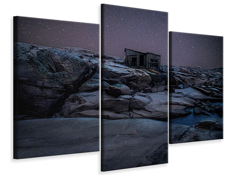 Modern 3 Piece Canvas Print On Mars