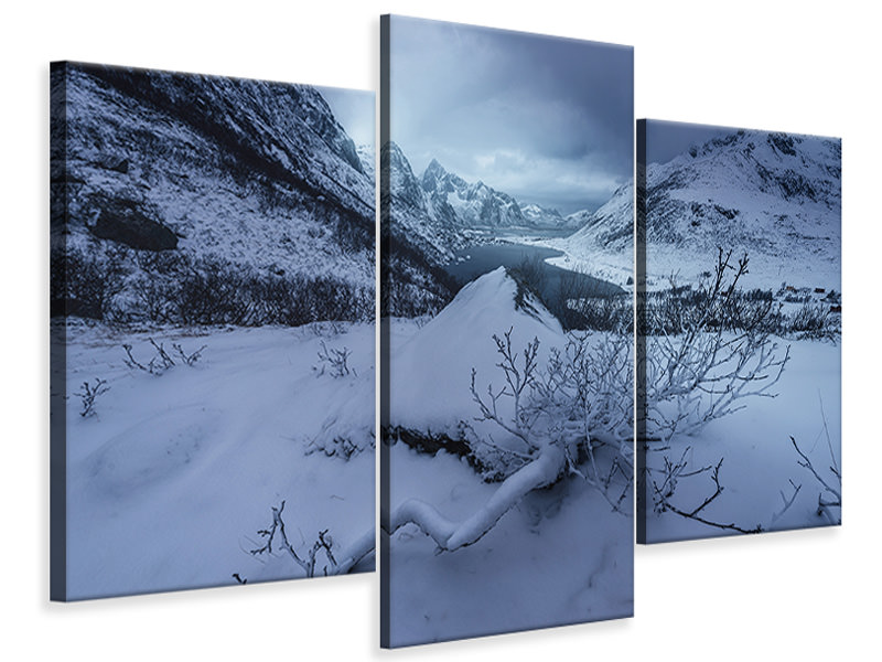 Modern 3 Piece Canvas Print Winter Is Coming A