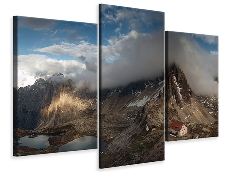 Modern 3 Piece Canvas Print Panorama In Trecime