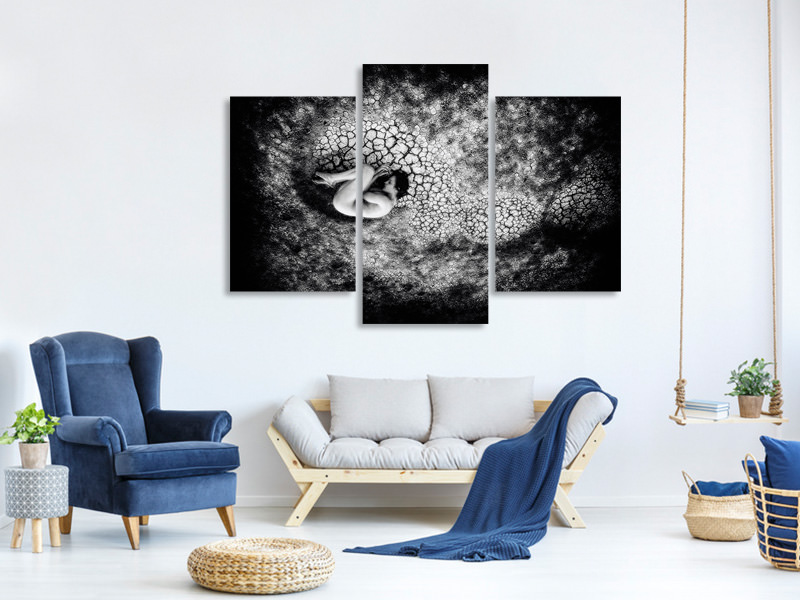 Modern 3 Piece Canvas Print Untitled 54