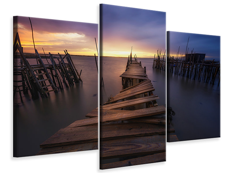 Modern 3 Piece Canvas Print The End