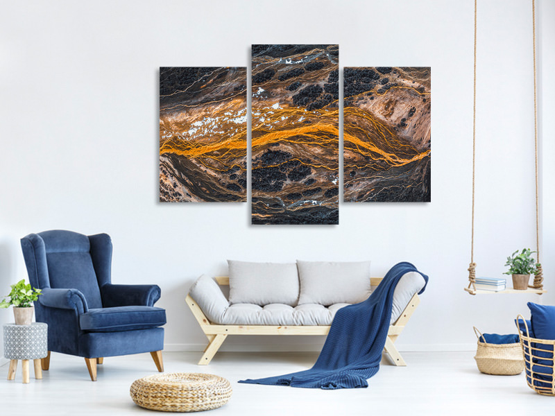 Modern 3 Piece Canvas Print The Pulse Of The Earth