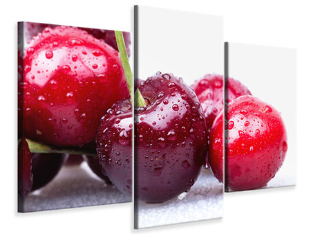Modern 3 Piece Canvas Print Cherries
