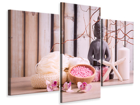 Modern 3 Piece Canvas Print Spa & Buddha