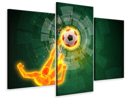 Modern 3 Piece Canvas Print The Kicker
