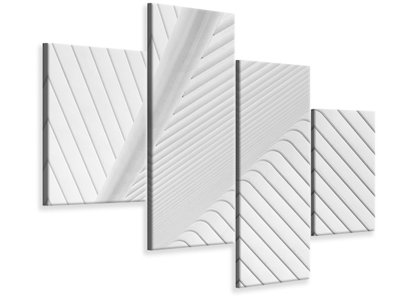 Modern 4 Piece Canvas Print Canopy