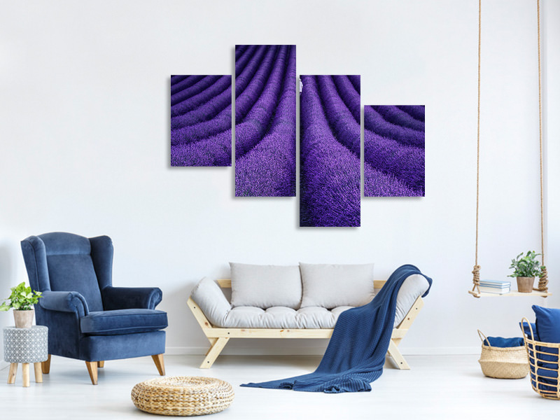 Modern 4 Piece Canvas Print She