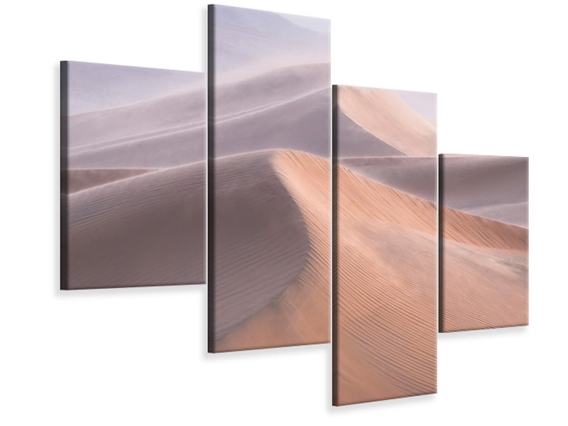 Modern 4 Piece Canvas Print Wind