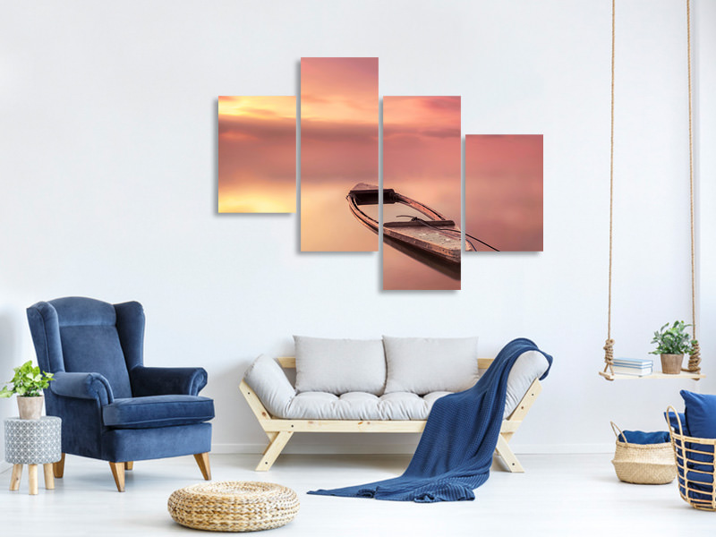 Modern 4 Piece Canvas Print The Boat