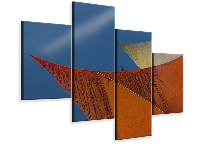 Modern 4 Piece Canvas Print Whimsical Points