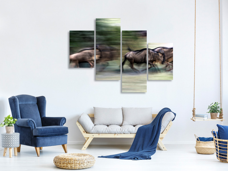 Modern 4 Piece Canvas Print Great Migration