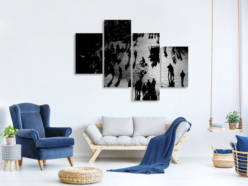 Modern 4 Piece Canvas Print Our Way To Morrocco