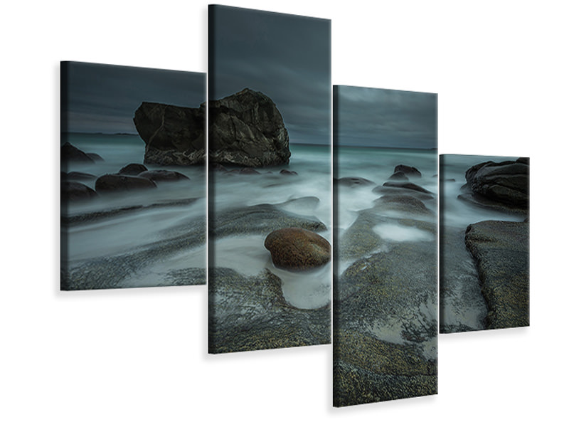 Modern 4 Piece Canvas Print Stormbringer Coming