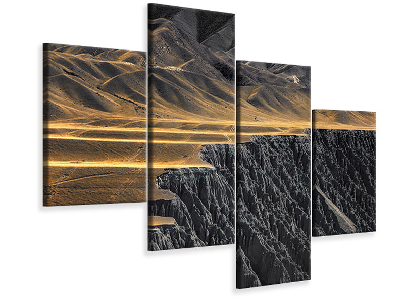Modern 4 Piece Canvas Print The Wrinkles Of God