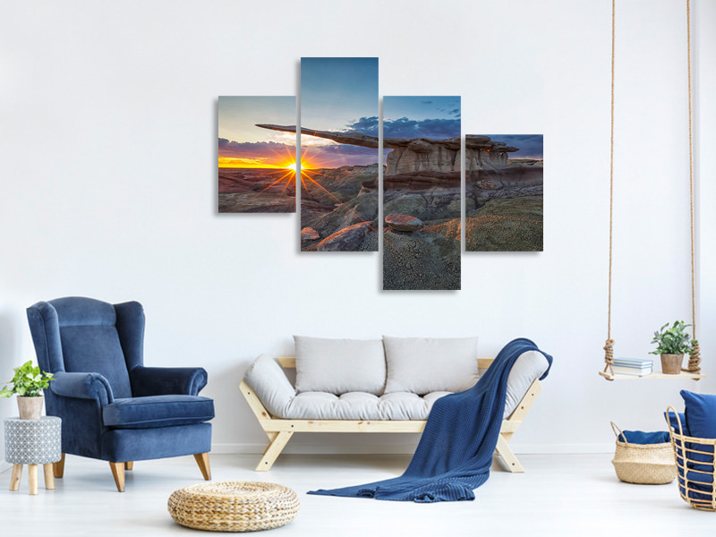 Modern 4 Piece Canvas Print Glory Of The King
