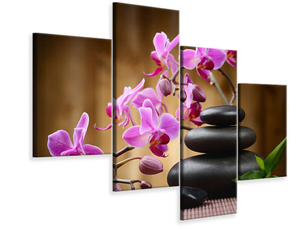 Modern 4 Piece Canvas Print Wellness Stones